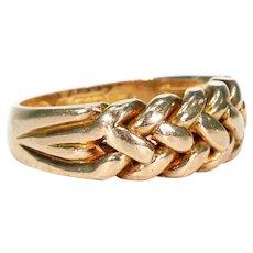 Edwardian Love Knot Gold Band Hallmarked 1908