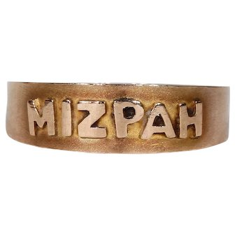 Antique Edwardian 9k Gold Mizpah Ring