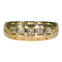 5 Stone Diamond 18K Gold, Birmingham 1912