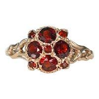 Victorian Bright Red Garnet Ring English