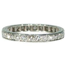 Art Deco Diamond Eternity Band Ring Platinum Sz 6.25