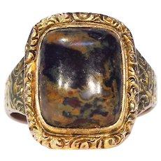 Georgian Gold and Jasper Ring