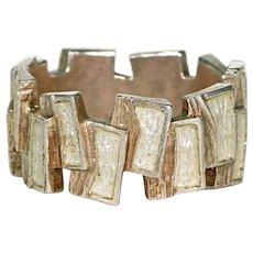 Mid-Century Scandinavian Funky Enamel Silver Ring