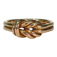 Antique Rose Gold Knot Ring Wedding Band