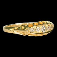 Victorian 5 Stone Diamond Ring 18k Gold