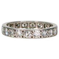 Art Deco Platinum Diamond Eternity Band Ring Wedding Size 7