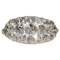 Antique Edwardian Diamond Cluster Ring 18k Gold