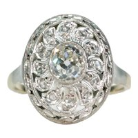 Antique Belle Epoque Diamond Ring Circa 1910