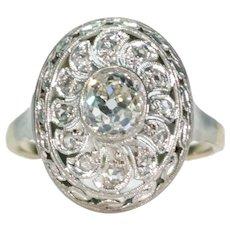 Antique Belle Epoque Diamond Ring Circa 1910