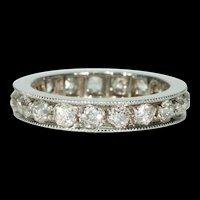 Vintage Old European Cut Diamond Eternity Ring Wedding Band
