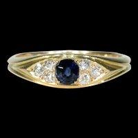 Antique Victorian Sapphire Diamond Ring