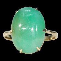 Edwardian 9.5ct+ Jadite Gold Ring 18k
