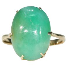 Edwardian 9.5ct+ Jadite Gold Ring 18k