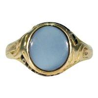 Victorian Sardonyx Memorial Ring 18k Gold In Memory Of