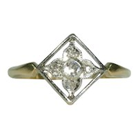Antique Edwardian Diamond Ring Childs Ring