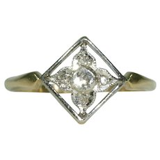 Antique Edwardian Diamond Ring Childs Ring