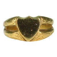 Antique Victorian Shield Shaped Signet Ring