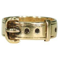 Victorian 18k Gold Buckle Ring English Hallmarked 1878
