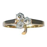 Antique French Trefoil Diamond Ring