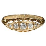 Vintage 18k Edwardian Diamond Ring Hallmarked Birmingham, England 1913