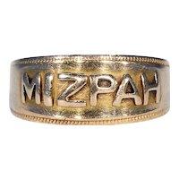 Victorian Mizpah 18k Gold Band Ring