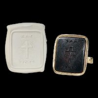 Victorian Cross Carved Intaglio Seal Pendant