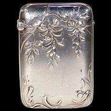 Antique Silver Art Nouveau Vesta Match Holder