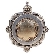 Vintage Watch Fob Pendant Silver Dated 1925