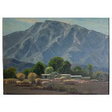 "Samuel Hyde Harris (1889 -1977)  Palm Springs ""San Jacinto Retreat"" oil painting"