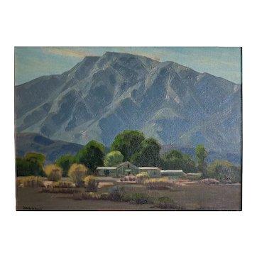 "Samuel Hyde Harris (1889 -1977)  Palm Springs ""San Jacinto Retreat"" oil painting"