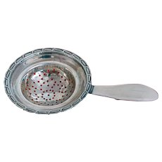 Vintage Elegant Sterling Silver  Tea Strainer circa 1900
