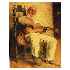 Gustavo Pisani  * Large Museum Quality Oil on Canvas circa 1900