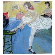 """""""A. Real"""" School of Paris   Ballerinas c. 1930s"""
