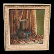 Elsie Palmer Payne * Listed California Still Life w/ Pitcher & Cherries in a Glass