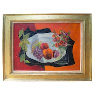 Tony Agostini (1916 - 1990)   Still Life   Mid century Oil on canvas Original