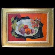 Tony Agostini (1916 - 1990)   Still Life   Mid century Oil on canvas Original