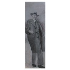 Large DOUGLAS BOND, Listed Georgia, Mid Century Modern Realist, ALGER HISS Portrait