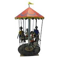 Manuel Felguerez Mexican Folk Art Metal Figurine Sculpture Merry Round Carouse