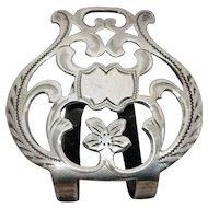 Edwardian Sterling Silver Napkin Clip