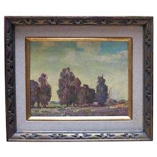 "Walt Lee (188-1980) Original oil titled ""Serenity"""