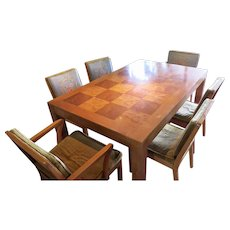 Mid Century Dinning Room Set Table and 6 chairs