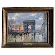 Henry Malfroy- Savigny  (1895 - 1944) Paris France Street Scene
