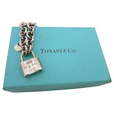 Tiffany Sterling Silver Bracelet with Lock