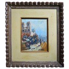 Louis Peyrat  (1911 - 2001) Oil on Canvas, Notre-Dame de Paris