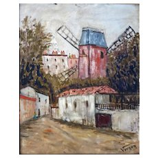 Original Oil on Canvas by French artist VERNON of the Moulin Rouge Paris