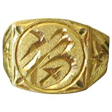 Vintage 22 Kt Yellow Gold Thai Ring