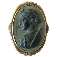 Antique Hard Stone Cameo 14 Kt