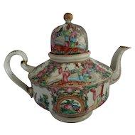 Antique Chinese Famille Rose Tea Pot