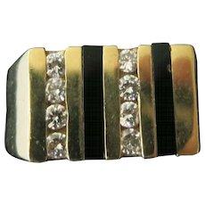 14 Kt Man's Diamond and Onyx Ring