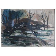 Robert Uecker  (1929-2005) California Water Color
